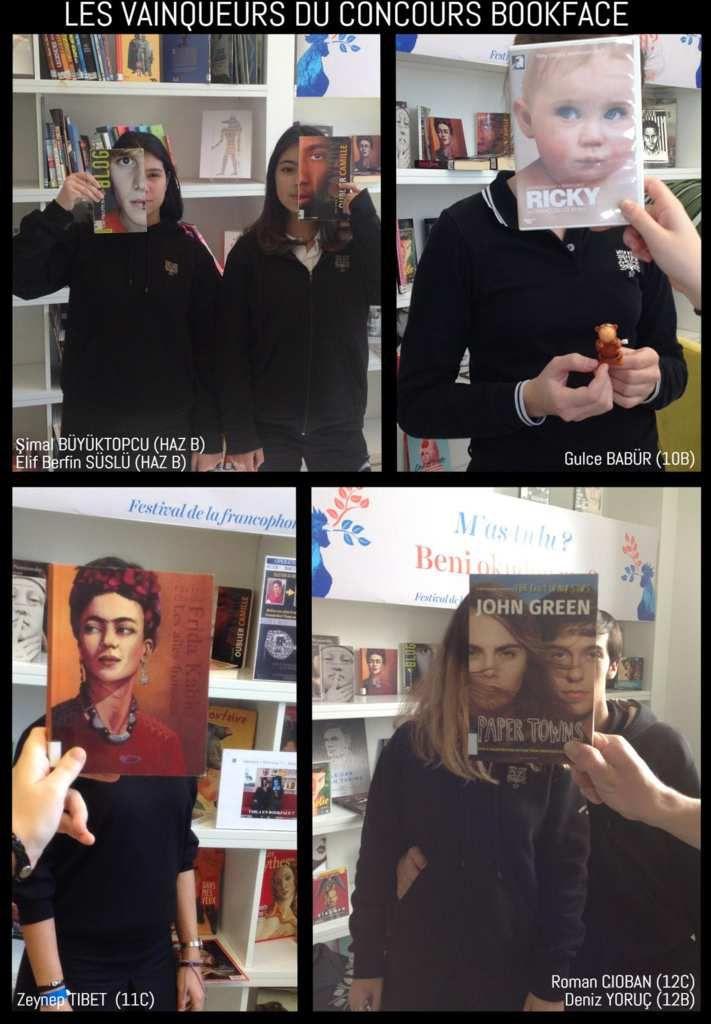 Les gagnants du concours Bookface...