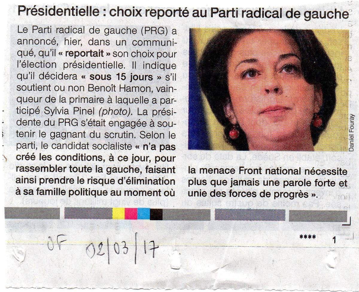 Article paru dans Ouest-France du 2 mars 2017