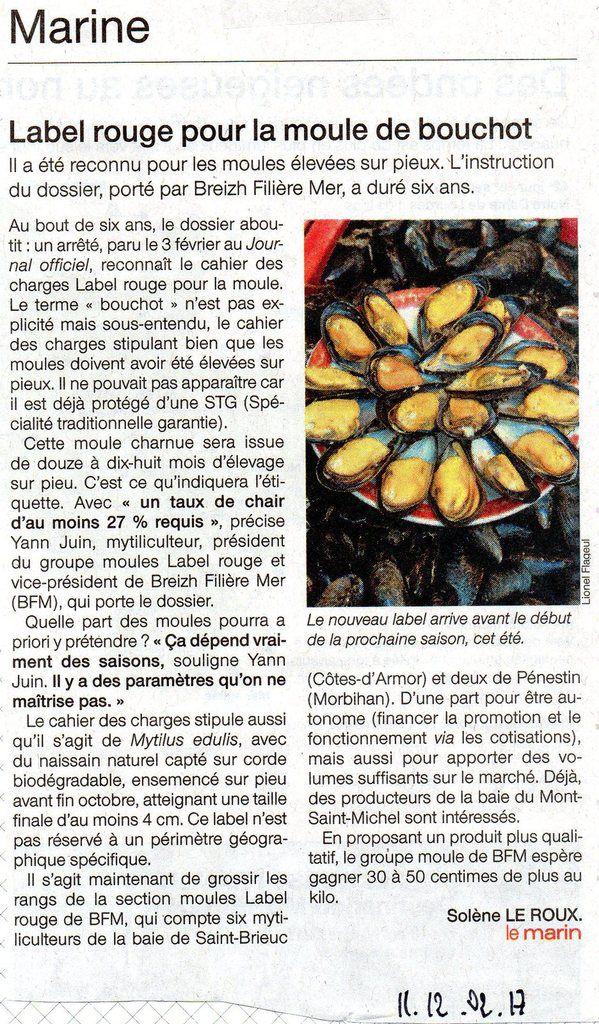Article paru dans Ouest-France du 11 février 2017