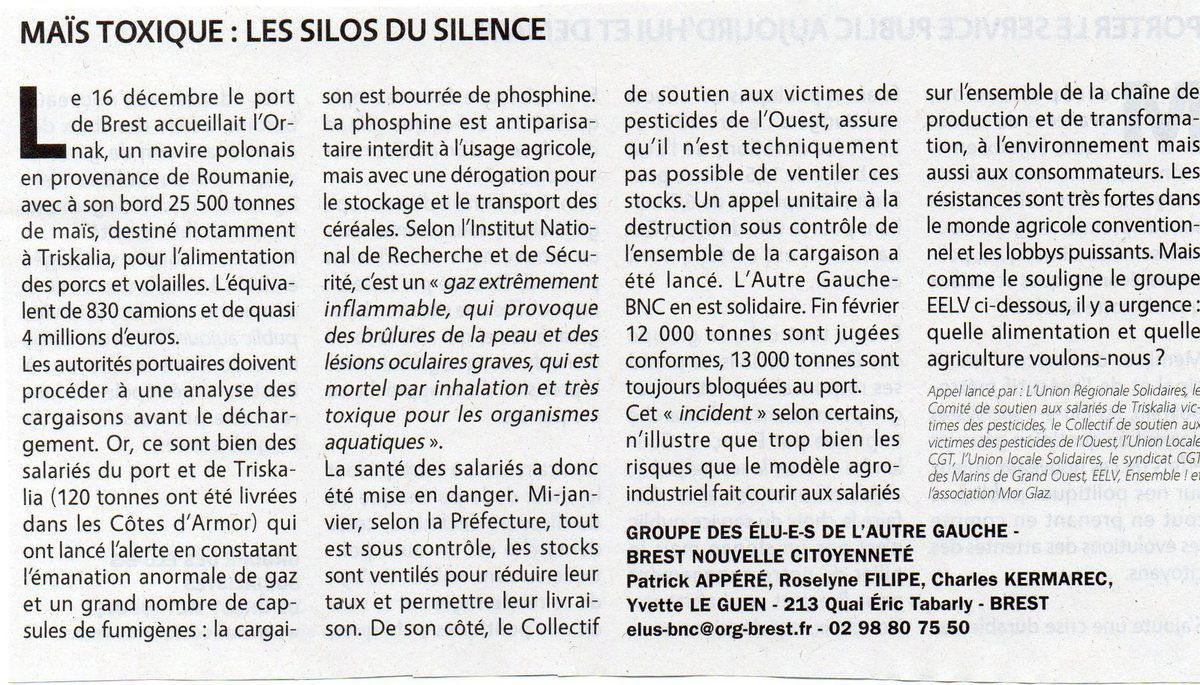 Article paru dans Sillage de mars 2017