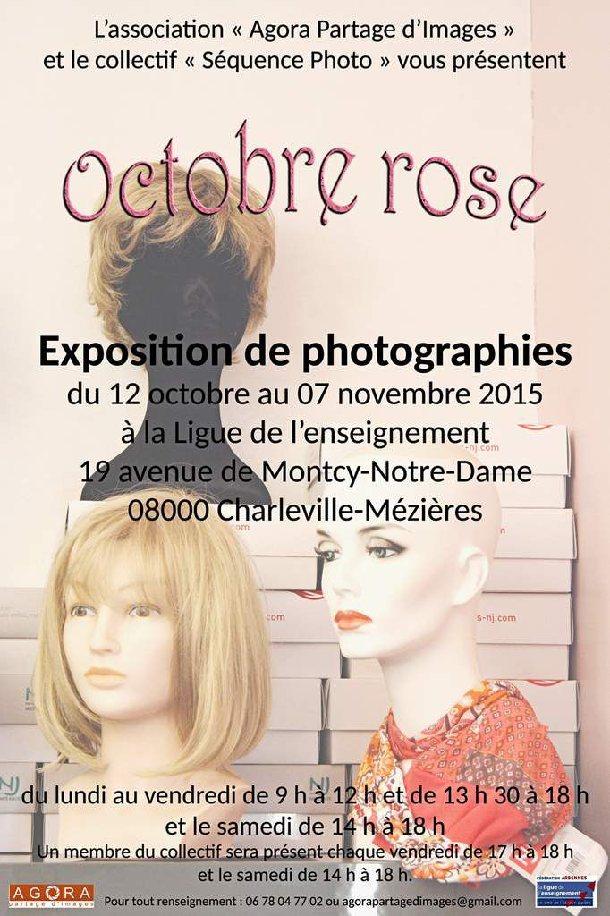 Octobre rose, exposition de photographies à la Ligue de l'enseignement