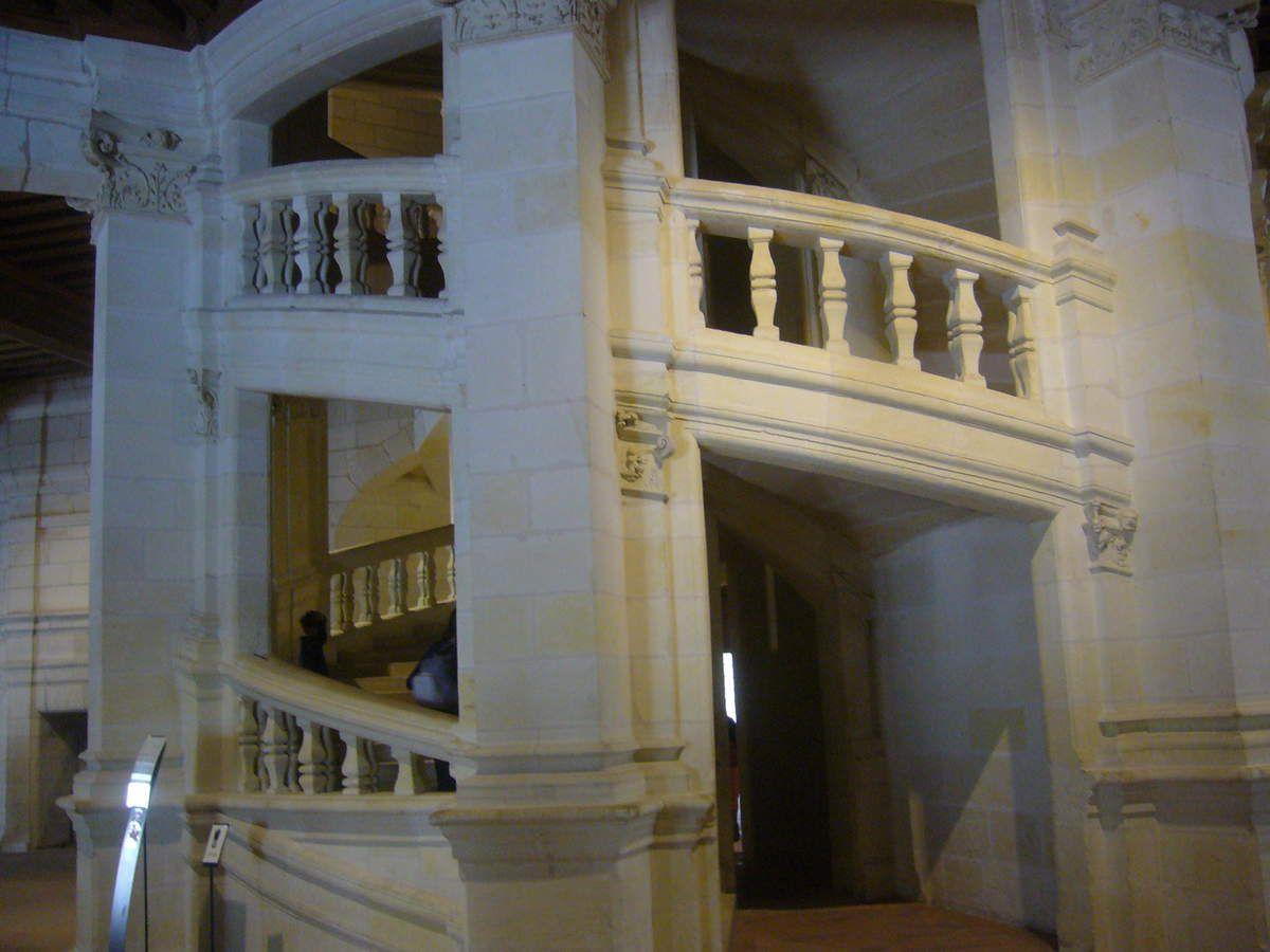 L'escalier à double révolution ( Chambord)