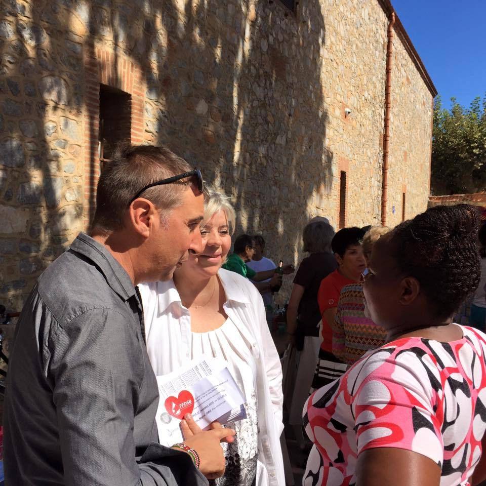Aux côtés de Jean-André Magdalou Maire d'Alenya  et Gabriel Terrasa Adjoint au Maire