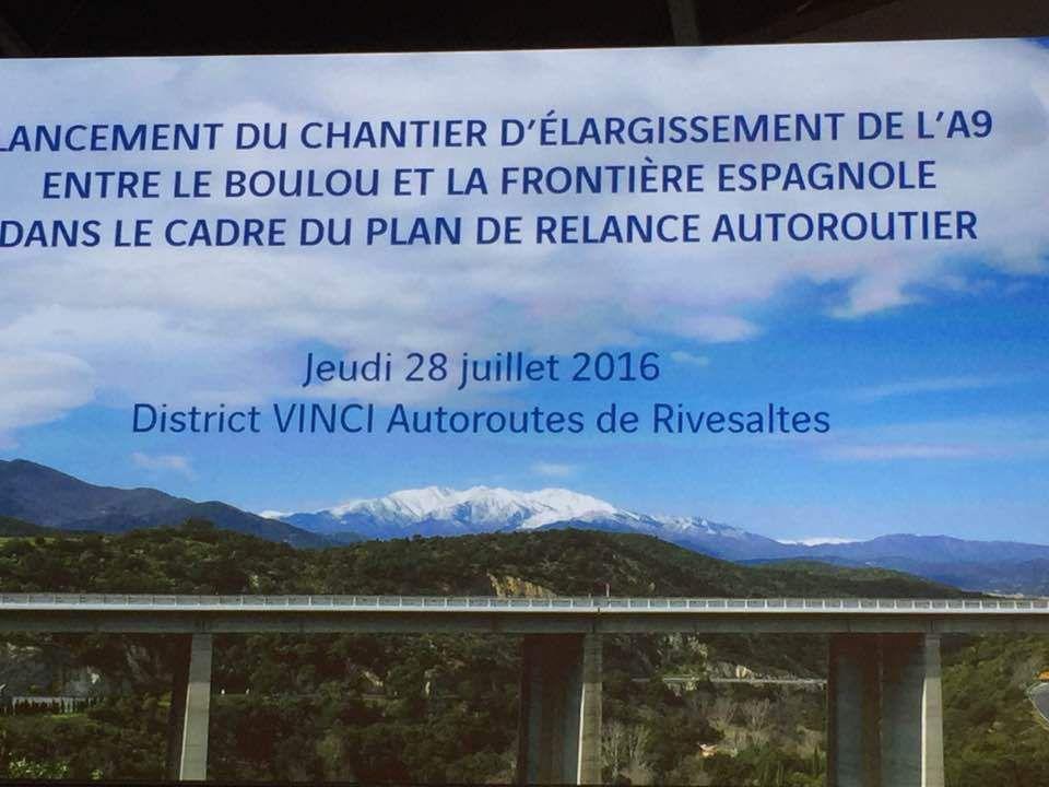 L'élargissement de l'A9 entre Le Boulou et la frontière espagnole, premier grand chantier du Plan de relance autoroutier