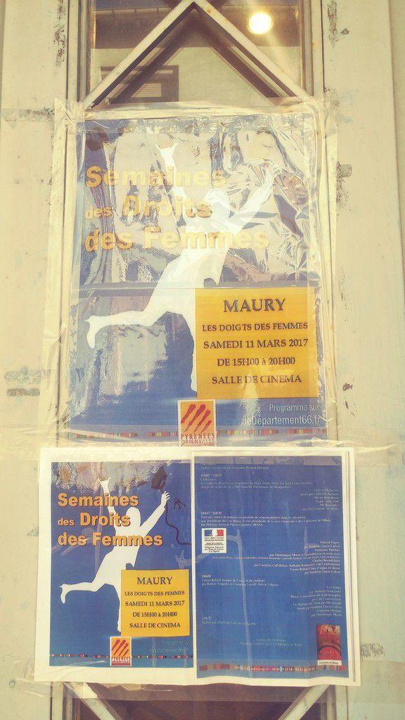 Egalité professionnelle A Maury dans le cadre du Mois des Droits des Femmes.