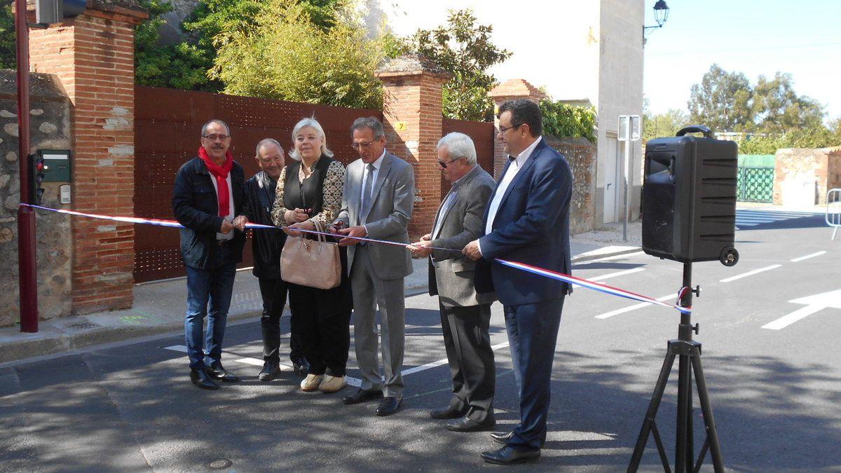Inauguration de l'aménagement de la rue du Canigou à Montescot.