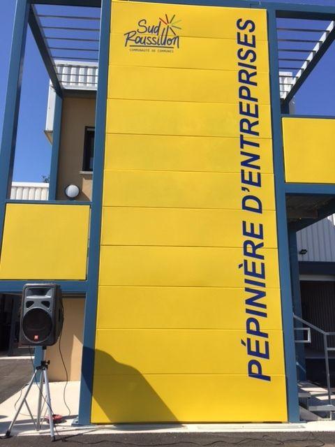 Inauguration de la Pépinière d'Entreprises Sud Roussillon à Saint-Cyprien.