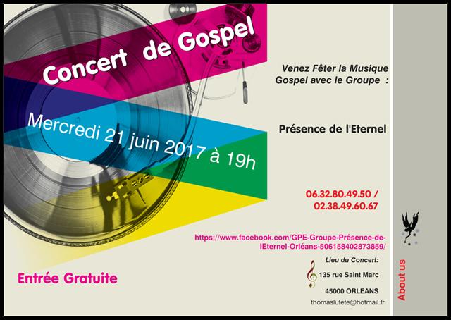 Invitation Fête de la Musique Gospel