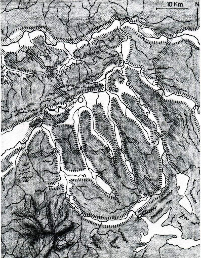 Les cinq vallées orientées vers le Jura.