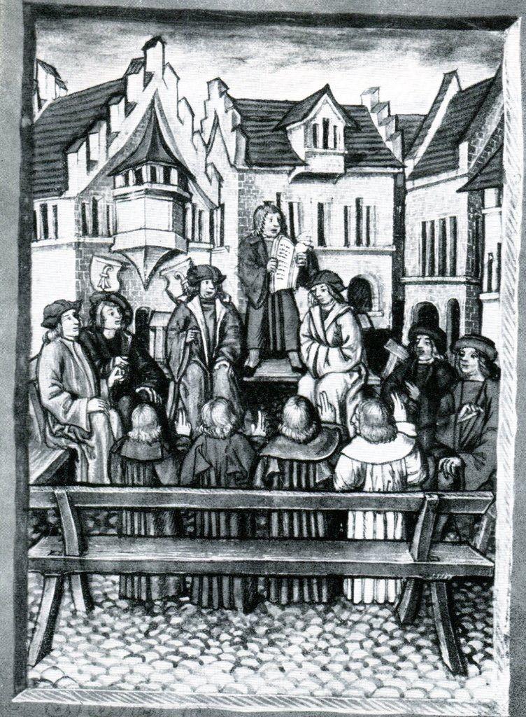 Prestation de serment lors de l'entrée de Bâle dans la Confédération, le 13 juillet 1501