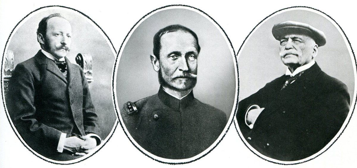 César Ritz. Le colonel Maximilien-Alphonse de Pfyffer d'Altishofen. Auguste Escoffier.
