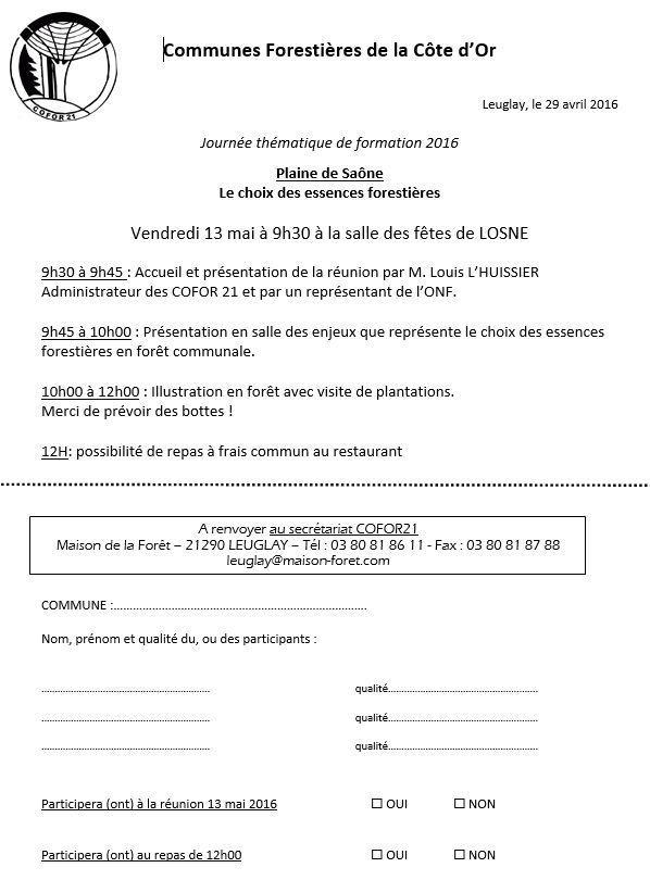 Réunion thématique &quot&#x3B;plantations de demain&quot&#x3B; vendredi 13 mai LOSNE