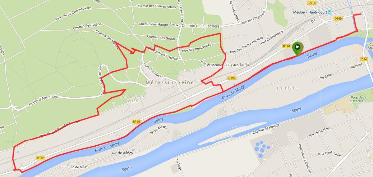 10,2 km à 6 km/h avec les amis de Meulan.
