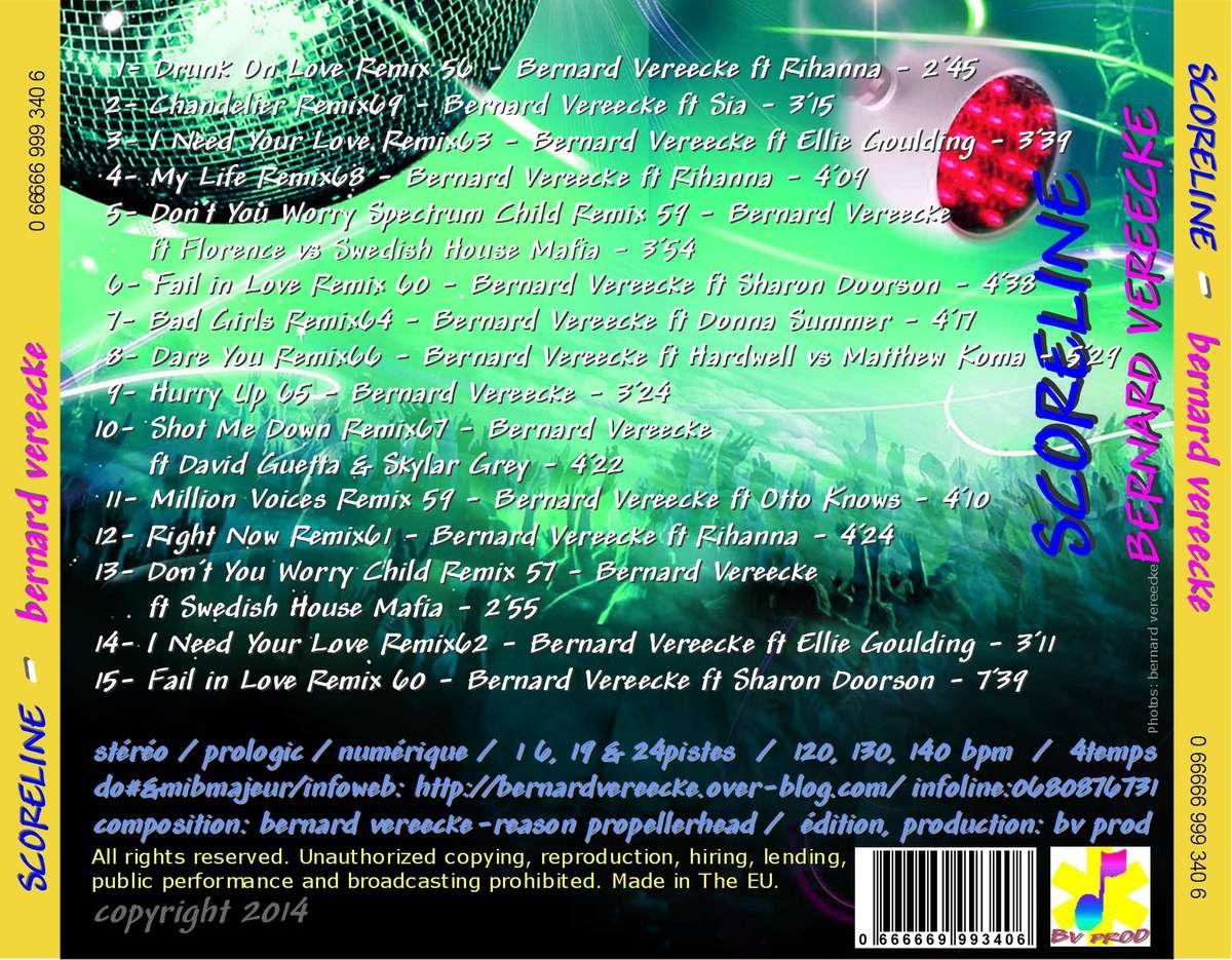 "6ème ALBUM CD ""SCORELINE"""