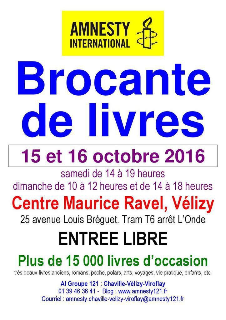 Velizy, 15-16 octobre, grande brocante de livres