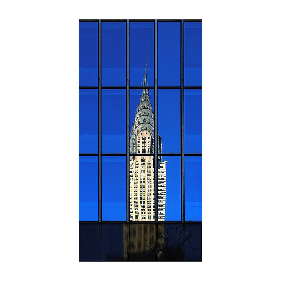 Ma pomme (6) Manhattan -The Chrysler Building vu de la Madison Avenue