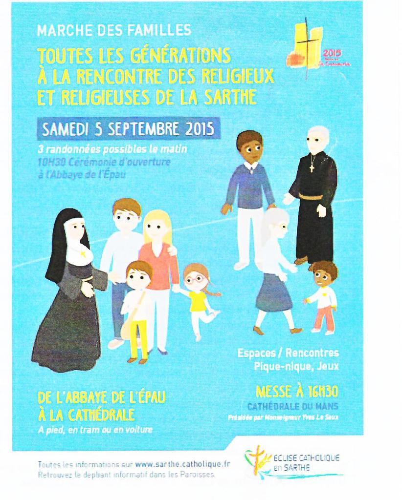 MARCHE DES FAMILLES - SAMEDI 5 SEPTEMBRE 2015