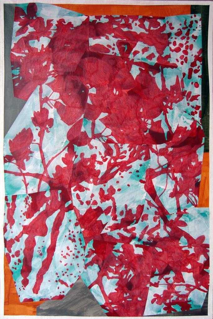 Brisées 5. 2017  -  90 x 60 cm peinture à la colle / papier / marouflé / toile