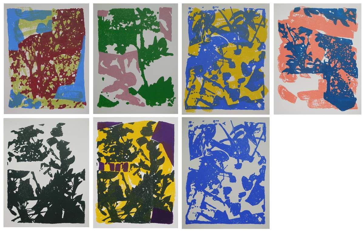 Série de lithographies couleurs, sans titres, 25 x 32 cm, 2016