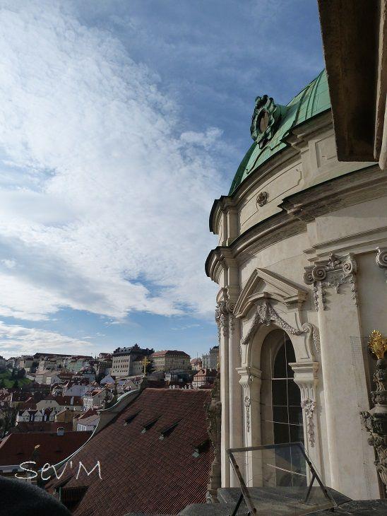 Après des dizaines de marches, vue depuis le clocher de St Nicholas !