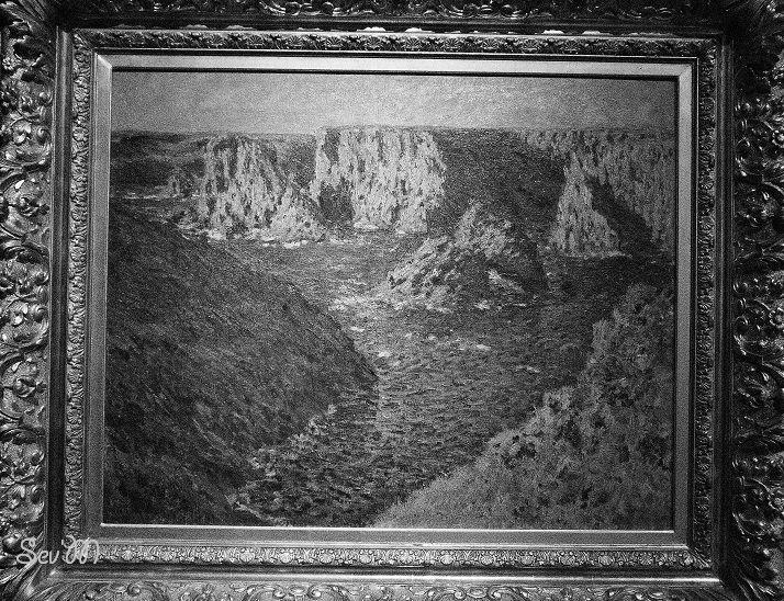 Monet, mais c'est plus drôle en noir et blanc non ?