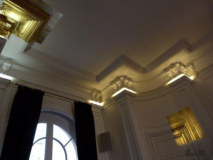Pour finir la première journée les studios Harcourt, célèbre agence photo spécialisée dans le n&b. Leur salon de thé est particulièrement charmant avec sa feuille d'or faussement arrachée.