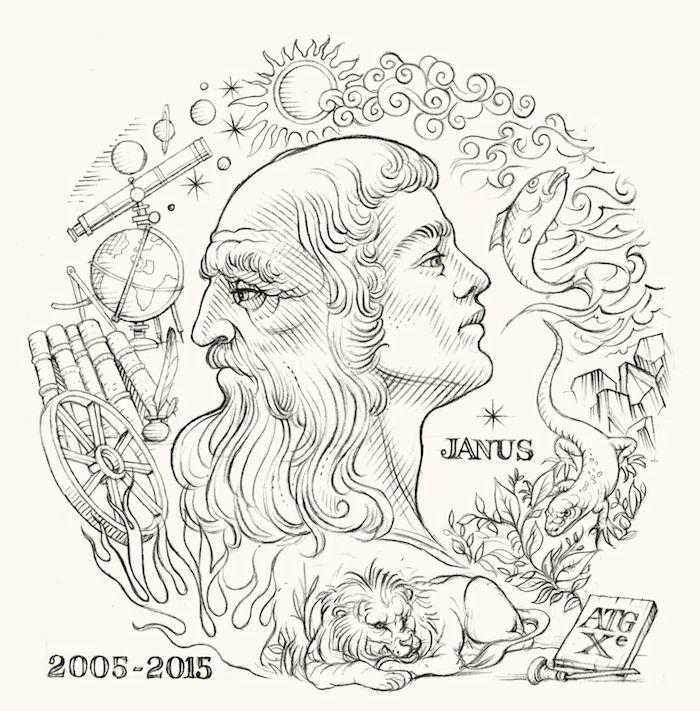 Gravure dessinée et gravée par Yves  Beaujard pour le 10ème anniversaire de l'association.