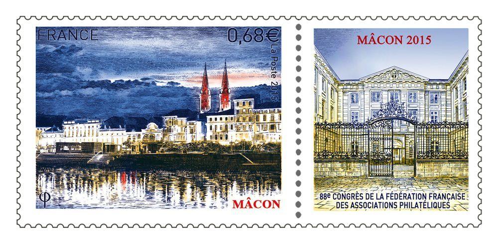 Timbre de Mâcon dessiné et gravé par Pierre Albuisson