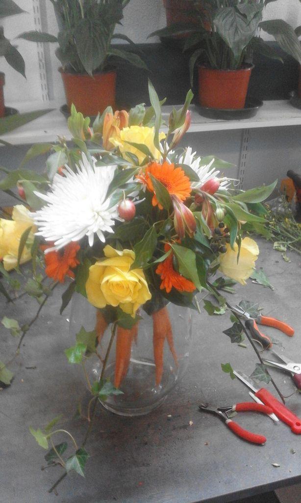 bouquet à base de genêts donne un style plus champêtre
