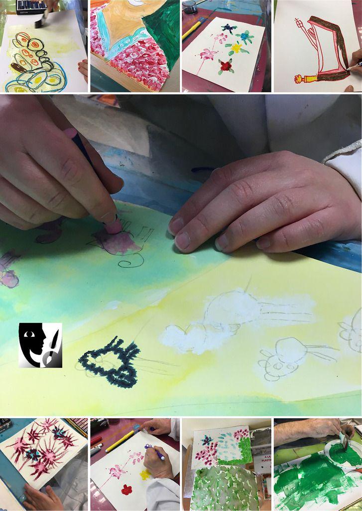 Dans le désordre &#x3B; Pastel sec ou gras sur encre, Encre sur pastel gras et feutres, Empâtements avec acrylique, Stylos feutres, Stylos feutres et encre, Encre... à nouveau Pastels et encre et Acrylique pure !