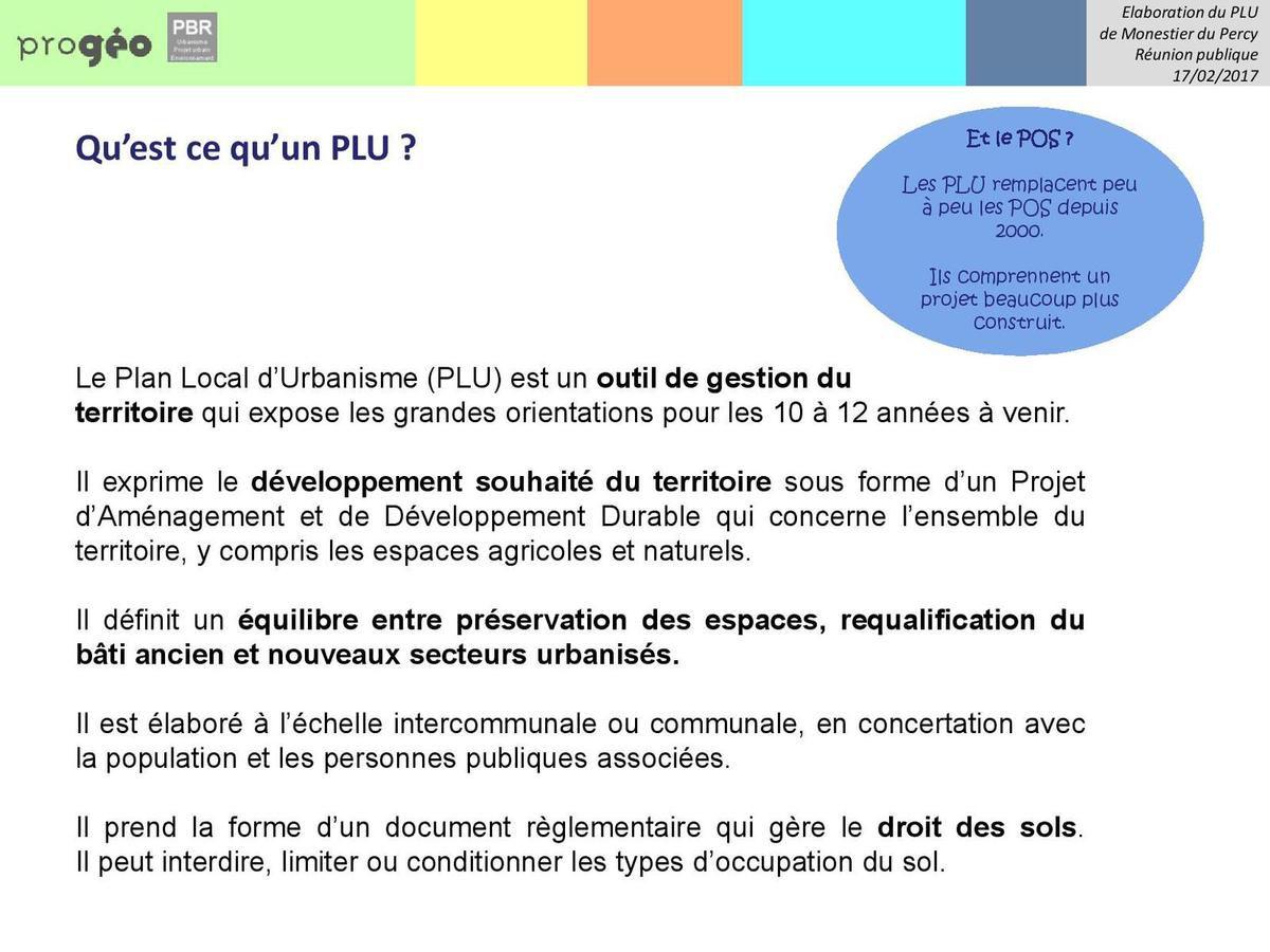 Compte rendu réunion PLU du 17 février 2017