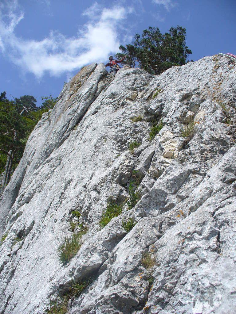 Escalade dans le Jura