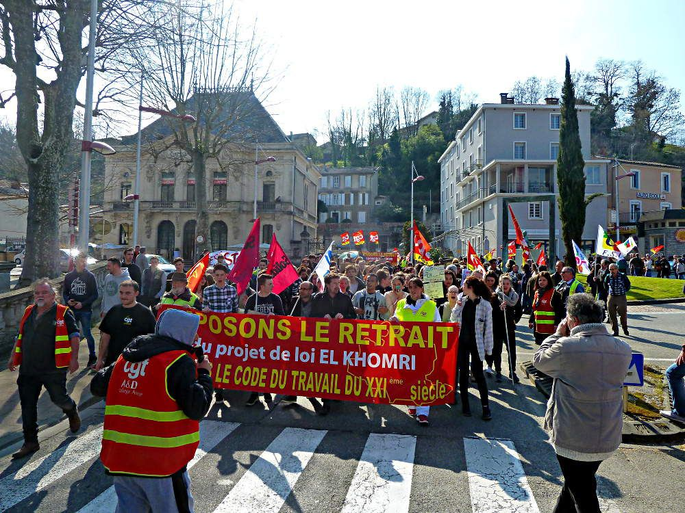 Manif Foix 24 mars 2016