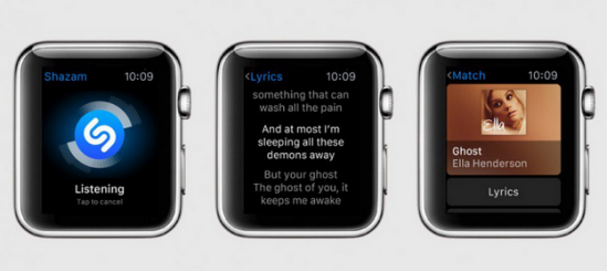 apple watch - shazam