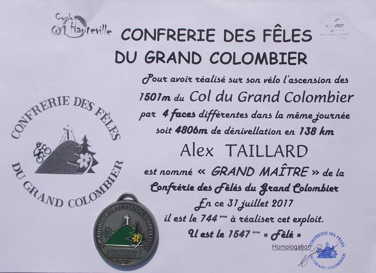 """Alex est devenu """"Grand Fêlé du Grand Colombier"""" ainsi que Lyonnel """"Grand Fada du Puy Mary""""... Encore un grand bravo à tout les deux !!!"""