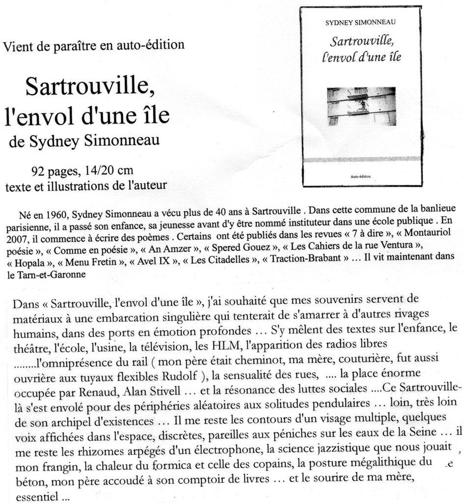 sydney  Simonneau 29rue Adrien Hébrard  82170 Grisolles  12,80 € frais de port inclus