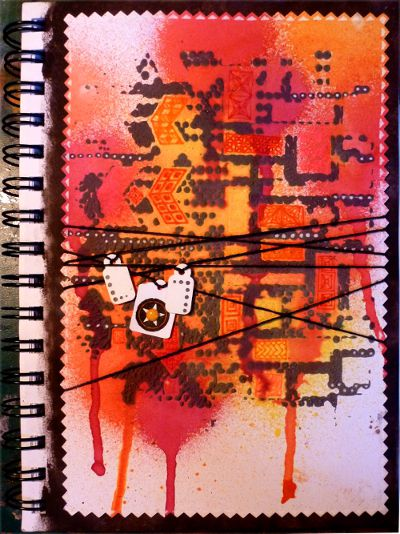 Abstract journal page