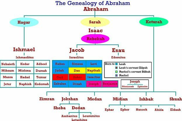 The Genealogy of Abraham according to the Bible