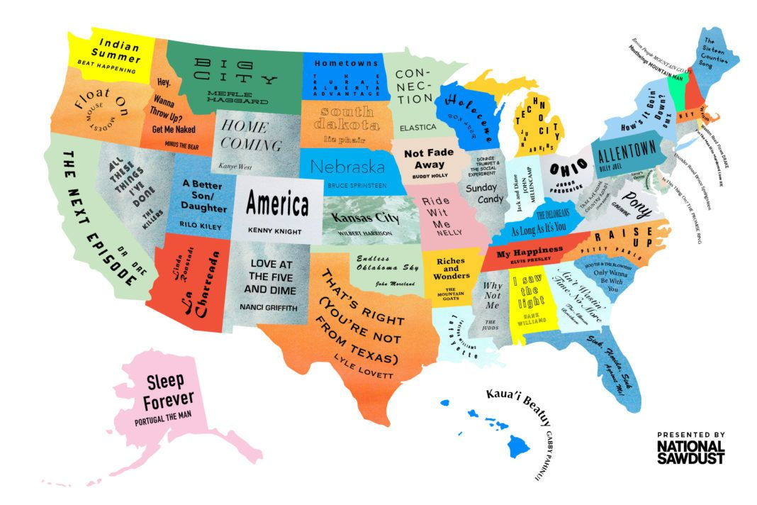 The Musical Map Of The United States By Brooklyn Magazine