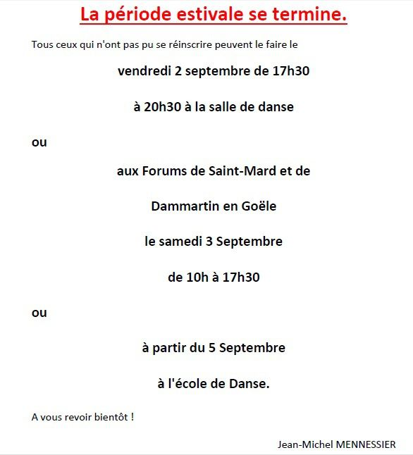 Inscriptions 2016 /  2017