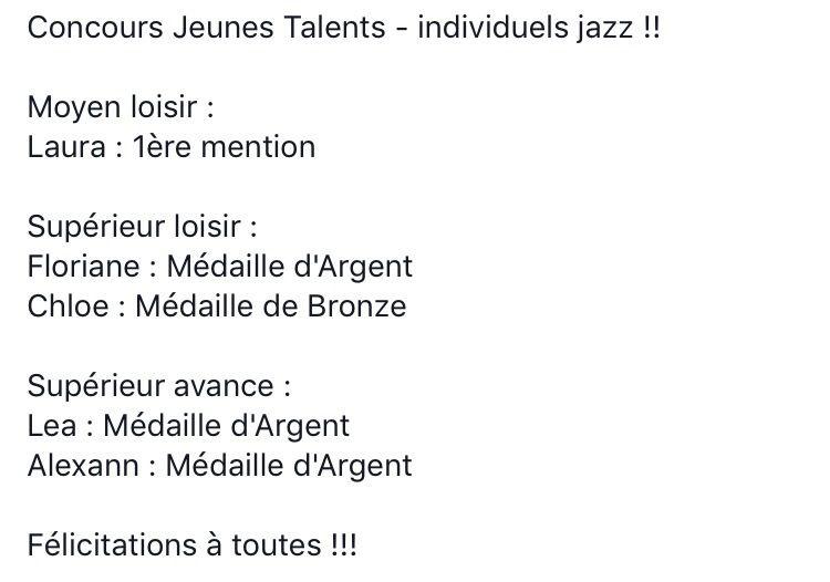 Concours Jeunes Talents - Individuels Jazz