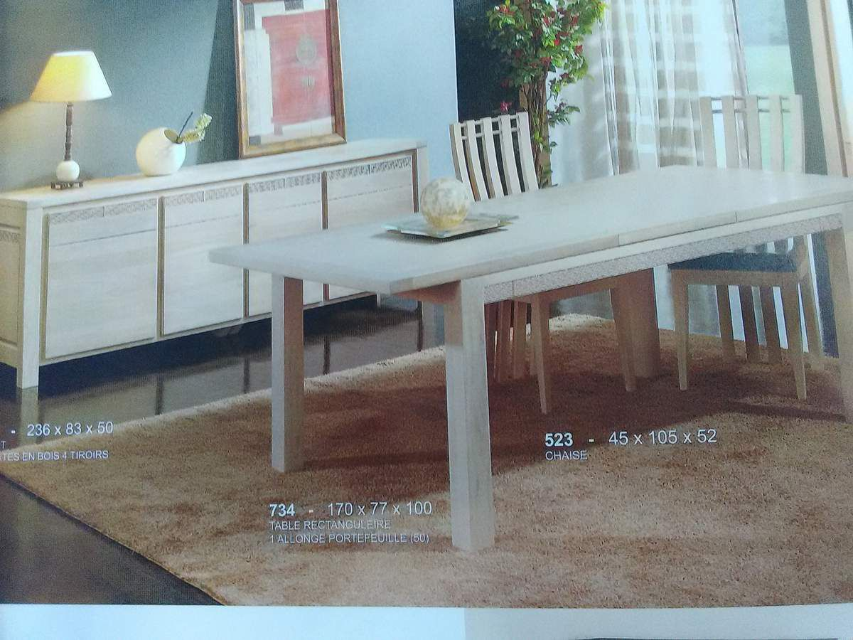 Collection salle manger biblioth que meuble tv table for Salle a manger grange