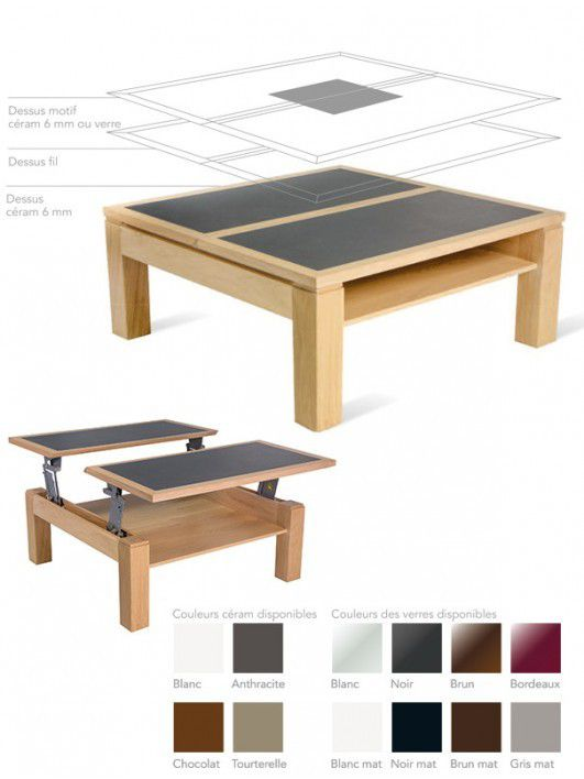 Collections de tables table basses chaises contemporaines 100 ch ne massif - Tables basses contemporaines ...