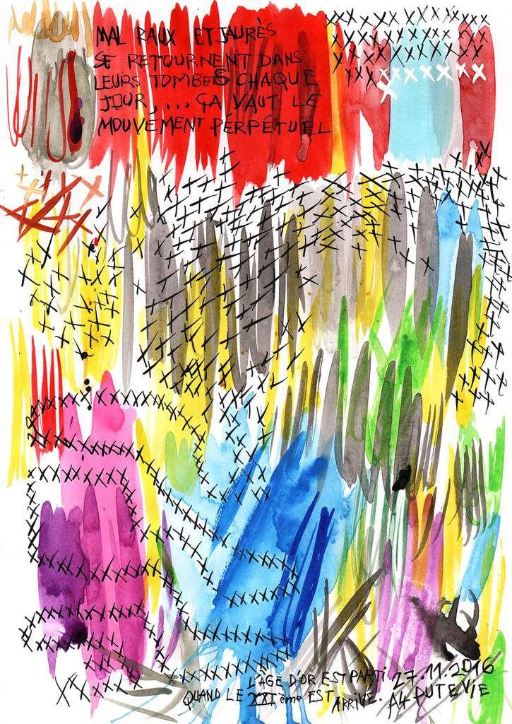 Mouvement perpétuel (palette de couleurs 29,7x21cm)