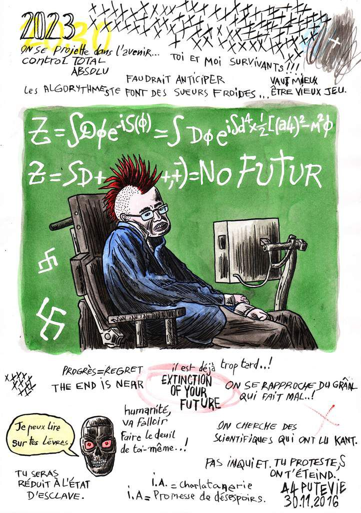 Stephen Hawking said: No Future (29,7x21cm)