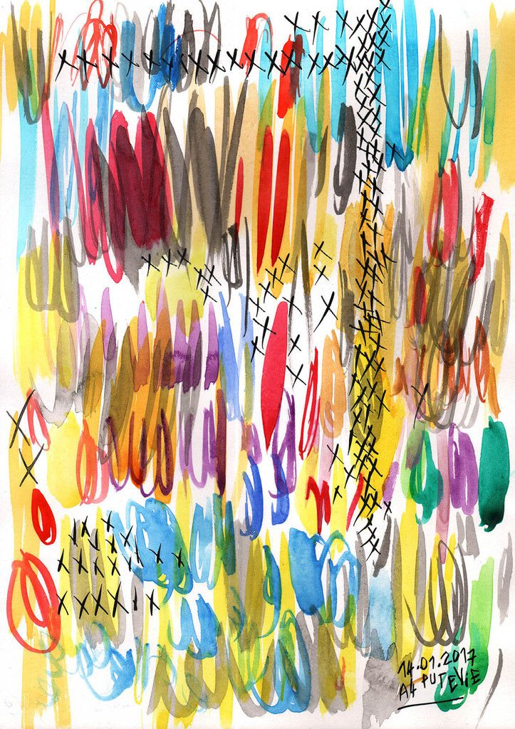 palette de couleurs (29,7x21cm). Ce jourd'hui,  j'accompagne Jules Stromboni pour une grande peinture à 4 mains à la médiathèque Cabanis...c'est prévu pour 15h.