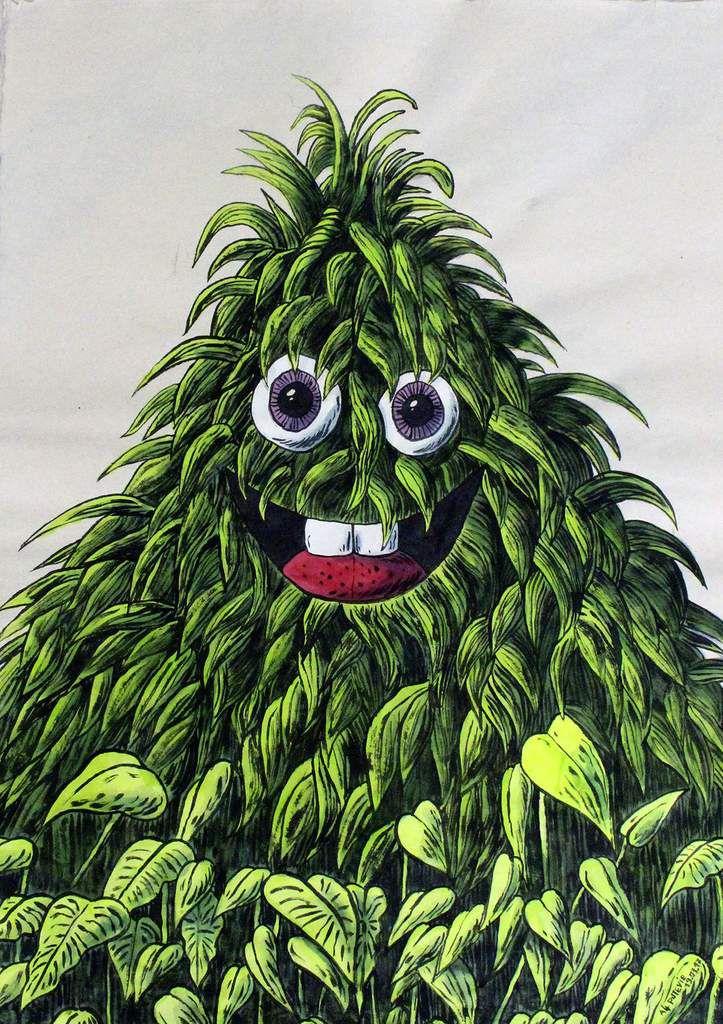 Mr Jungle, acrylic on rice paper 80x60cm, Cu Chi / Plus Zero.