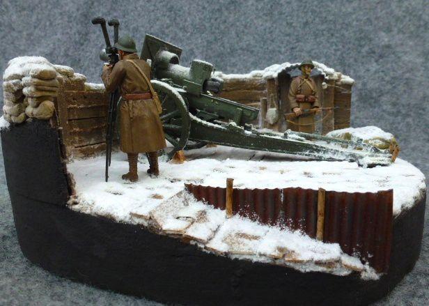 Schneider 155C - Drôle de guerre hiver 1940