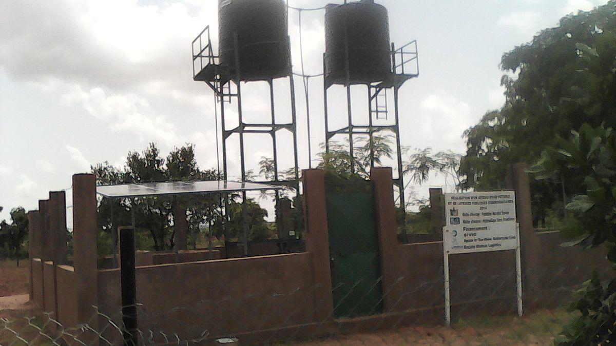 Dernière activité de la visite d'évaluation du projet d'adduction et d'assainissement effectuée par Youssouf Abdel Sadick, représentant de HSF, au Projet Wurodinisso à Doufiguisso ce vendredi 8 Juillet 2016