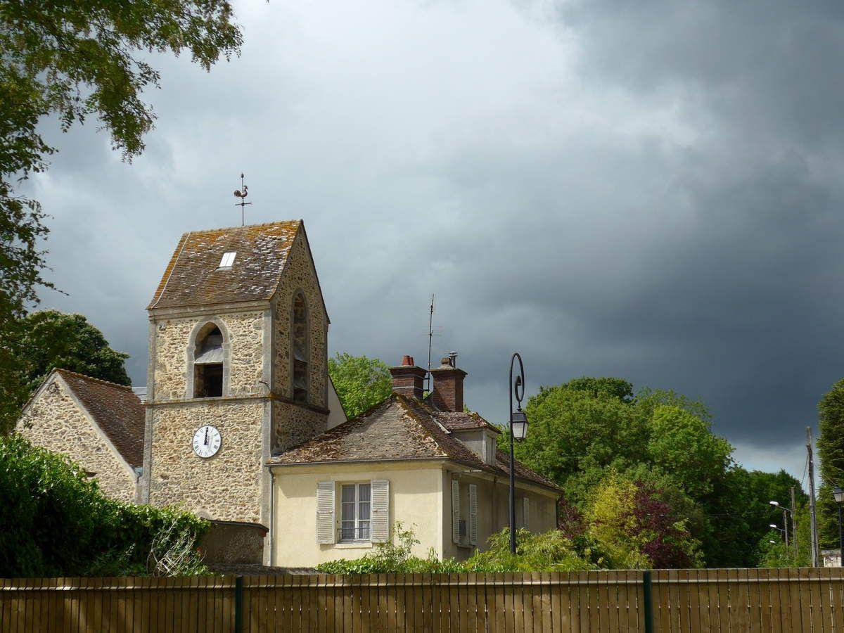 Vieille-Eglise sous l'orage et notre pique-nique
